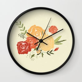 Rose Bouquet Wall Clock