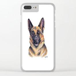 German Shepard - Dog Portrait Clear iPhone Case