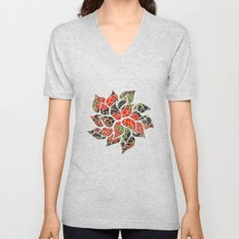 Floral Abstract 17 Unisex V-Neck