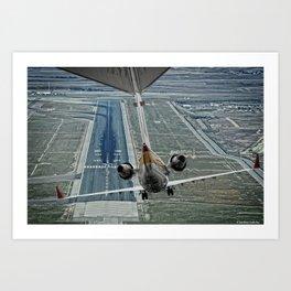 Flap fail landing Art Print