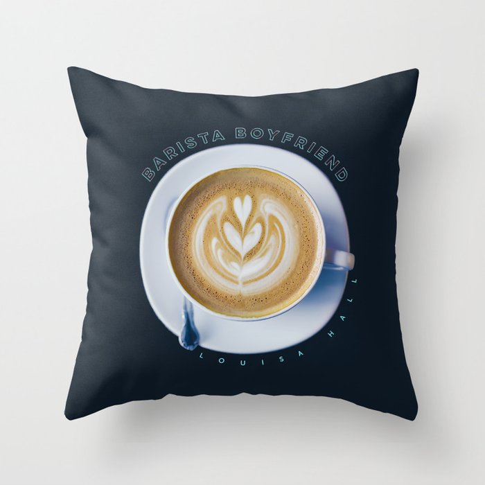 Barista Boyfriend Throw Pillow