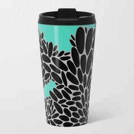 Pebbles on Turquoise Travel Mug