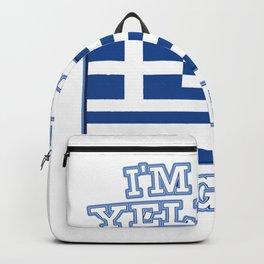 I am Greek I cries Not gift Backpack