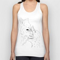 wolves Tank Tops featuring wolves by Andrea Morales