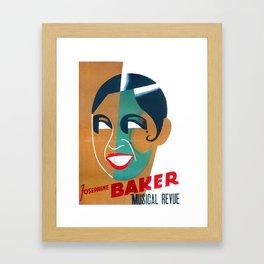 Josephine Baker Vintage Poster for Stockholm Framed Art Print
