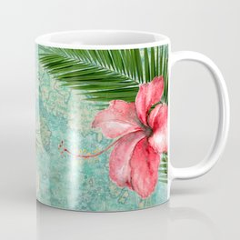 Tropical Map Coffee Mug