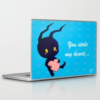 kingdom hearts Laptop & iPad Skins featuring Kingdom Hearts - Heartless by UncannyViolet