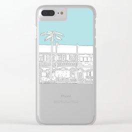 Camperdown Park Terraces - Blue Clear iPhone Case