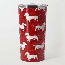 Merry Christmas Dachshunds Travel Mug