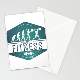 Evolution Fitness | Workout Training Muscles Stationery Cards