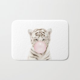 Bubble Gum White Tiger Cub Bath Mat