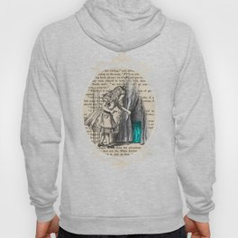 Follow The White Rabbit - Vintage Book Hoody