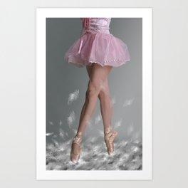 Walking on dreams Art Print