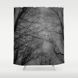 Tree of black Shower Curtain
