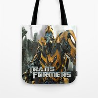 transformers Tote Bags featuring Transformers by giftstore2u