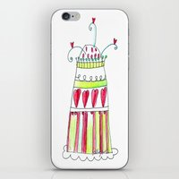 cake iPhone & iPod Skins featuring Cake by Stefania Morgante