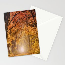 Autumn Fall Forest Path -  Nature Landscape Photography Stationery Cards
