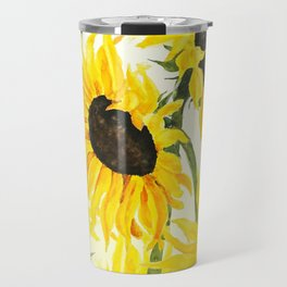 sunflower watercolor 2017 Travel Mug