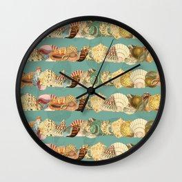 Sea shells pattern 3 Wall Clock