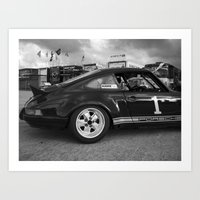 porsche Art Prints featuring Porsche by Trackography