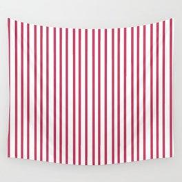 Modern  minimalist red white geometrical trendy stripes Wall Tapestry