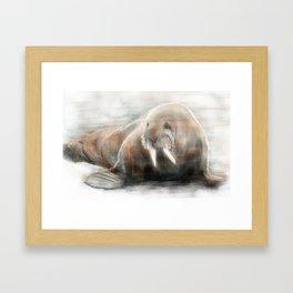 Walter Walrus Framed Art Print