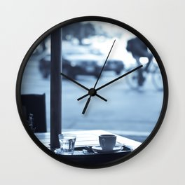 Street Coffee (Retro and Vintage Urban photography) Wall Clock