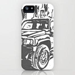 Urban Explorer - Hummer H3 Scetch iPhone Case