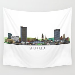 Sheffield Icons - Skyline Wall Tapestry