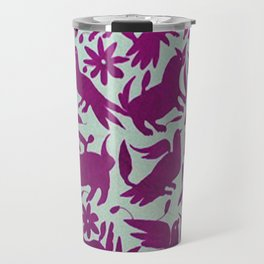 Otomi Magenta Travel Mug