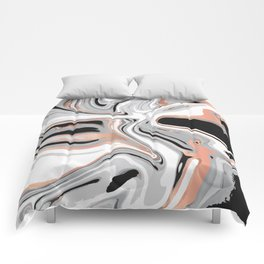 Liquid Marble with Copper Lines 015 Comforters