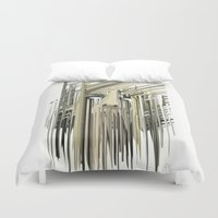 kurt rahn Duvet Covers featuring Kurt Melting by eyesdrippingink