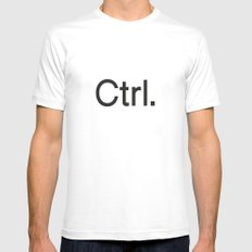 Ctrl. computers 2X-LARGE White Mens Fitted Tee