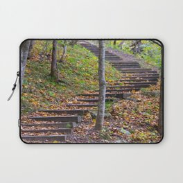 Stairway into the Woods Laptop Sleeve