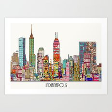 Indianapolis skyline Art Print