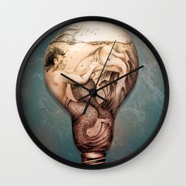 Trapped In This Idea - Rustic Wall Clock