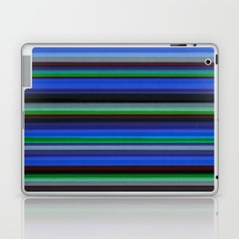 Colored Lines - Blue Laptop & iPad Skin
