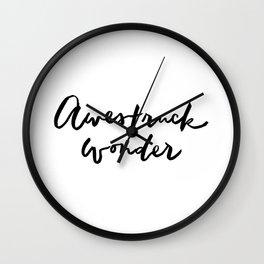 Awestruck Wonder Wall Clock
