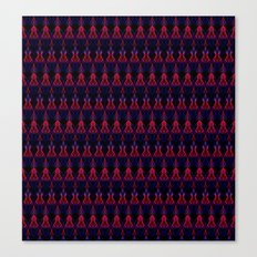 Red blue zigzag pattern Canvas Print