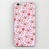 pigs iPhone & iPod Skins featuring pigs by elvia montemayor