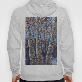 Aspen forest in the Rocky Mountains (Palette Knife) Hoody