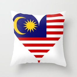 South east asia flag Throw Pillow