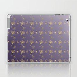 Ginkgo Purple Gold Laptop & iPad Skin
