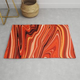 Modern Abstract orange and Yellow Layers Rug