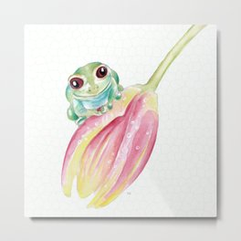 Cute Froggy Metal Print