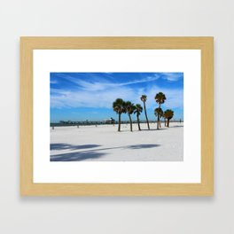 Clearwater Pier And Beach Framed Art Print