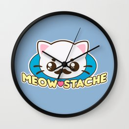 Meow-Stache Wall Clock