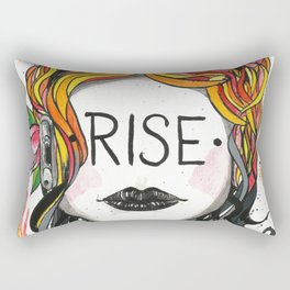"""Words Within: """"Rise"""" Rectangular Pillow"""