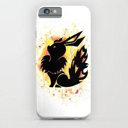 Flareon Splash Silhouette iPhone Case