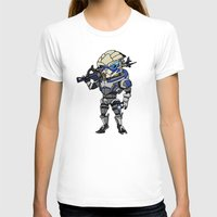 garrus T-shirts featuring Mass Effect 3: Garrus Vakarian Chibi by SushiKitteh'sCreations